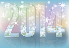 Happy New 2014 year greeting card. Illustration Stock Photography