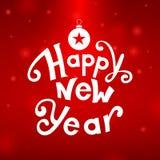 Happy New Year greeting card. Illustration vector illustration