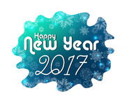 Happy New Year 2017 greeting card. Illustration of Happy New Year 2017 greeting card stock illustration