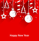 Happy New Year Greeting Card Stock Photography
