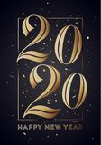 2020. Happy New Year. Greeting card with inscription Happy New Year. 2020. Fashion style for Happy New Year 2020 or Merry Christmas theme. Holiday background royalty free illustration