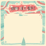 Happy New Year Greeting card, invitation, poster or background. Vector illustration Royalty Free Stock Images