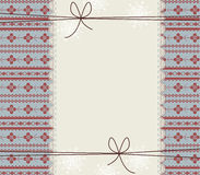 Happy New Year Greeting card with lace frame and stylish ornamen. T Royalty Free Stock Images