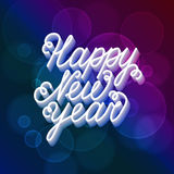 Happy New Year greeting card. Stock Photos