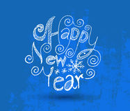 Happy new year  greeting card lettering. Royalty Free Stock Photos