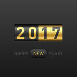 Happy New Year 2017 greeting card Stock Image
