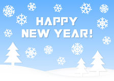 Happy New Year! Greeting card Royalty Free Stock Images