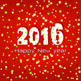 2016 Happy New year. Greeting card. Stock Photos