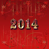 Happy New Year greeting card Stock Image
