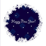 Happy new year greeting card. Happy new year red greeting card with snowflakes Stock Photography