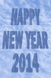 Happy New Year 2014 greeting card Stock Photo