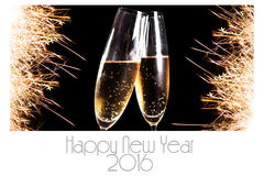 Happy new Year 2016 greeting card Stock Images