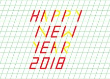 Happy New Year Greeting Card. With Simple and Colorful Design Stock Photo