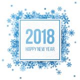 Happy new year 2018 greeting card. With snowflakes Royalty Free Stock Photos