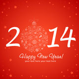 2014 Happy New Year greeting card Royalty Free Stock Photography
