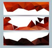 Happy New Year 2016 greeting card stylized triangle polygonal model Stock Images
