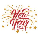 Happy New Year 2018. Greeting Card Template. Abstract Carte nouvel an 2018 Royalty Free Stock Image