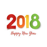 Happy New Year 2018 greeting card template. Royalty Free Stock Photo