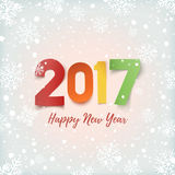 Happy New Year 2017 greeting card template. Royalty Free Stock Image