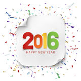 Happy New Year 2016 greeting card tenplate. Royalty Free Stock Image