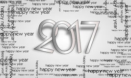 Happy new year 2017 Royalty Free Stock Photography