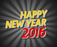 Happy New Year 2016 greeting card vector. Happy New Year 2016 greeting card Stock Images