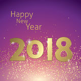 Happy New year 2018 Royalty Free Stock Image