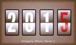 Happy New Year 2015. Greeting New year card in 2015. Vector card Happy New Year 2015 Royalty Free Stock Image