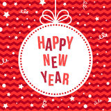 Happy New Year Greeting Card. Stock Photography
