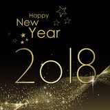 Happy New year 2018. Greeting card vector Stock Photography