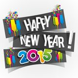 Happy New Year 2015 Greeting Card Stock Photos