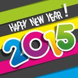 Happy New Year 2015. Greeting Card vector illustration royalty free illustration
