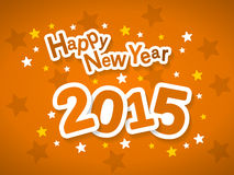 Happy New Year 2015. Greeting card vector illustration Stock Image