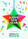 Happy New Year 2015 Greeting Card vector illustration.  royalty free illustration