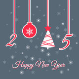 Happy New Year Greeting Card. Vector illustration Royalty Free Illustration