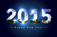 Happy New Year 2015. Greeting card for New Year 2015 - vector illustration Stock Image