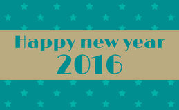 Happy New Year 2016 greeting card. Vector illustration Stock Images