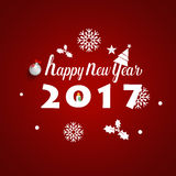 Happy new year 2017 Greeting Card, vector illustration.  royalty free illustration