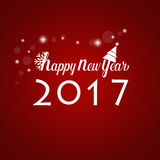 Happy new year 2017 Greeting Card, vector illustration.  Stock Photos
