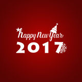 Happy new year 2017 Greeting Card, vector illustration.  Royalty Free Stock Image
