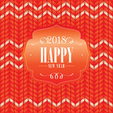 2018 Happy New Year greeting card Stock Images
