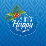 2018 Happy New Year greeting card Stock Photography