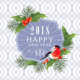 2018 Happy New Year greeting card Royalty Free Stock Images