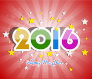 Happy New Year 2016 greeting card. Vector illustration design elements stock illustration