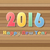 Happy new year 2016 greeting card.. Vector illustration eps10 Vector Illustration