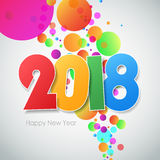 Happy new year 2018  greeting card. Royalty Free Stock Image