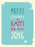 Happy new year greeting card. Vector illustration. 10 eps Royalty Free Stock Photography