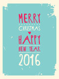 Happy new year greeting card. Vector illustration. 10 eps Royalty Free Stock Images