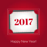 Happy New Year 2017 greeting card. Vector illustration. Happy New Year 2017 greeting card. Party poster, greeting card, banner or invitation. Holiday design Stock Photography