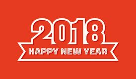 Happy New Year 2018 greeting card Stock Photography